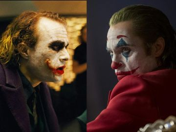 Heath Ledger y Joaquin Phoenix en sus interpretaciones como 'Joker'