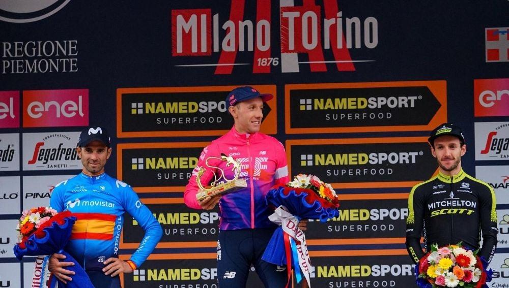 El podio del Giro de Lombardía