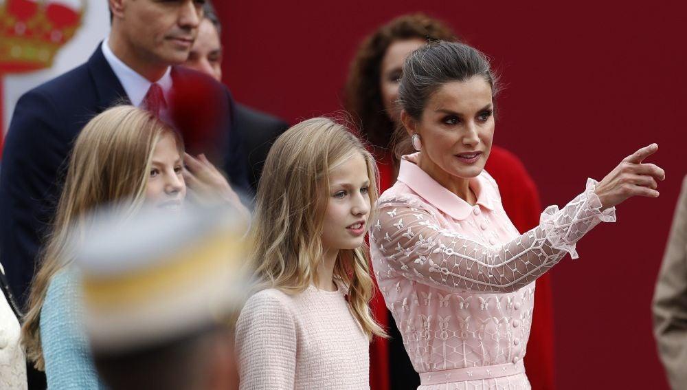 La princesa Leonor en el desfile del Día de la Hispanidad