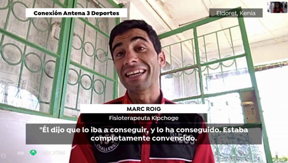 Marc Roig, el fisio español que está detrás del exito de Kipchoge