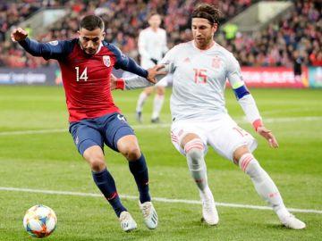 El capitán de la Selección Española, Sergio Ramos.
