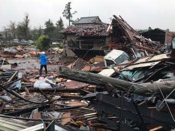 Destrozos del tifón Hagibis en Japón