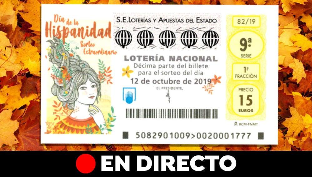 Sorteo Extraordinario del Día de la Hispanidad 2019: Resultado de la Lotería Nacional del 12 de octubre