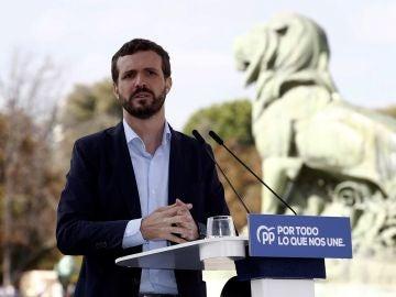 Pablo Casado en un acto en Madrid