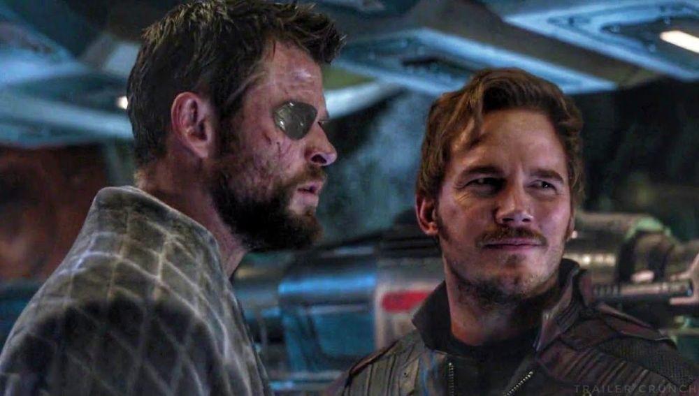 Chris Hemsworth y Chris Pratt en 'Vengadores: Endgame'