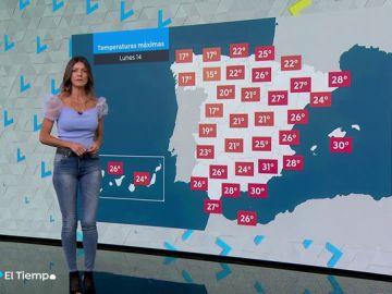 El lunes se presenta con la llegada de un frente frío en toda España