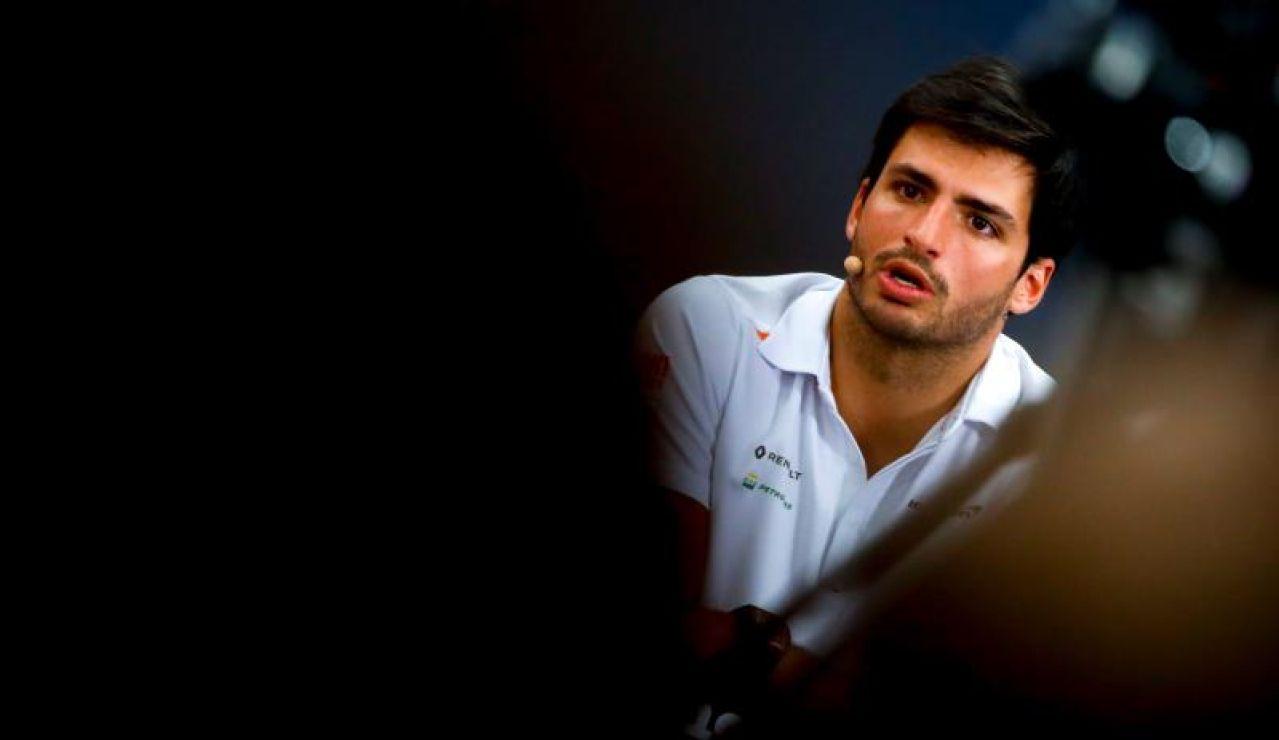 Carlos Sainz en sala de prensa
