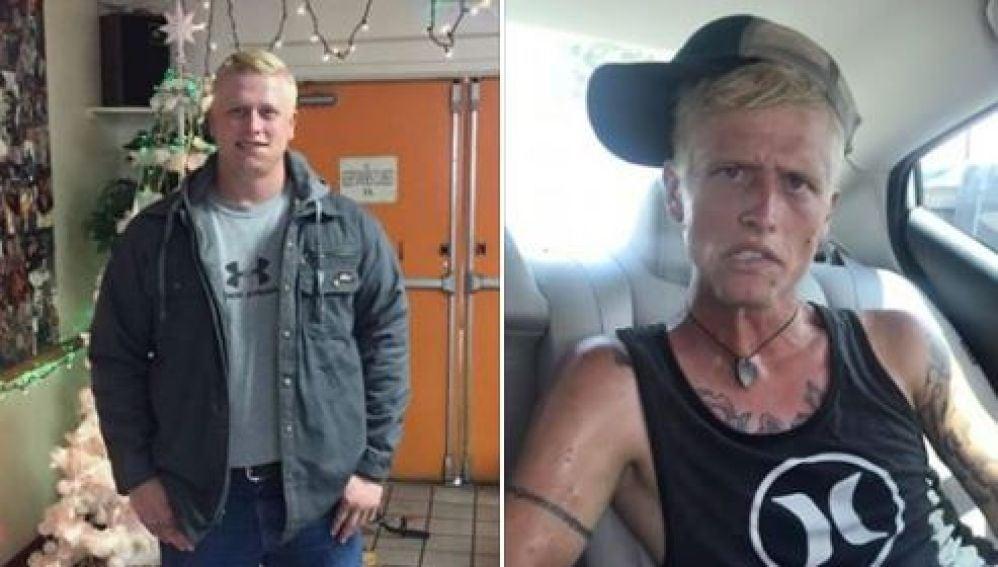 El antes y después de un adicto a las drogas