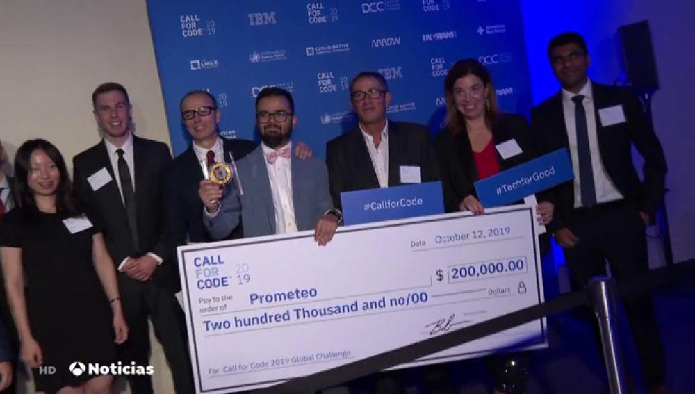 Un grupo de españoles ganan el prestigioso premio 'Code Response' que entrega la ONU