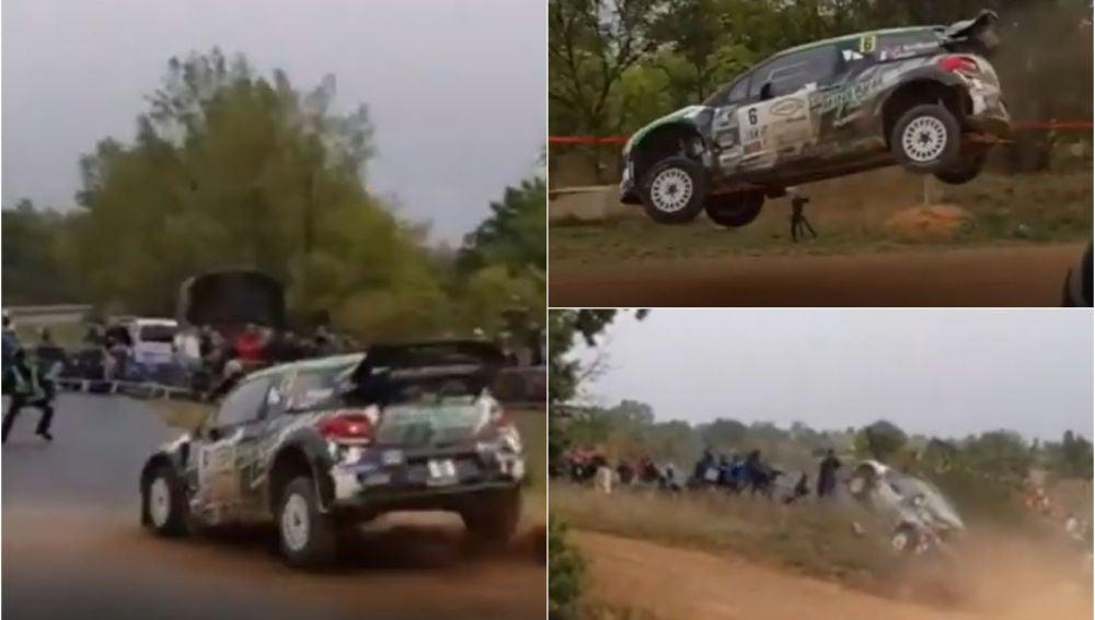 Un coche arrolla al público durante un rally en Francia