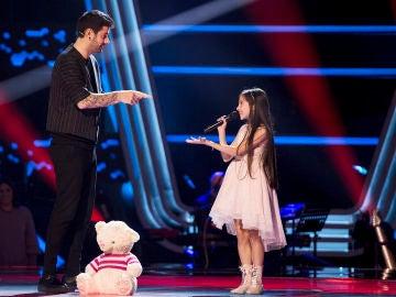 Las tiernas palabras de Melani, ganadora de 'La Voz Kids', al ver de nuevo a Melendi