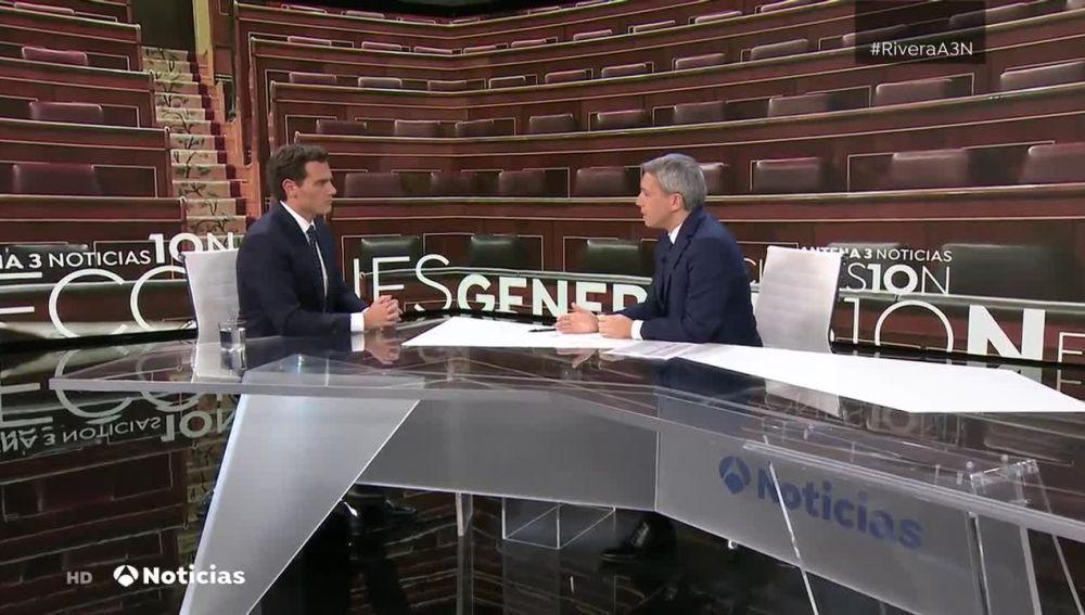 Albert Rivera en Antena 3 Noticias