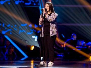 Paola Casas canta 'Si tú me miras' en las Audiciones a ciegas de 'La Voz Kids'