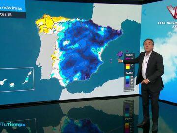 Casi toda España, en alerta por fuertes lluvias, viento y oleaje