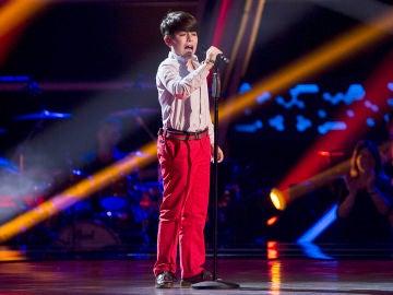 Pablo Monge canta 'Vámonos ya pa casa' en las Audiciones a ciegas de 'La Voz Kids'