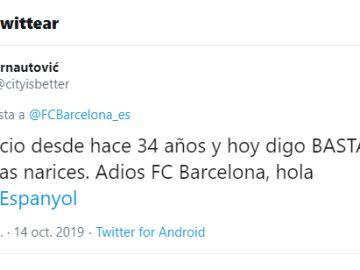 El mensaje de un socio al Barça