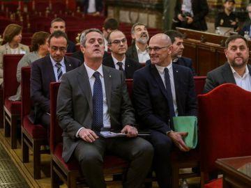 Los líderes independentistas durante el juicio del 'procés'