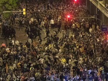Concentración contra la sentencia del procés en Barcelona