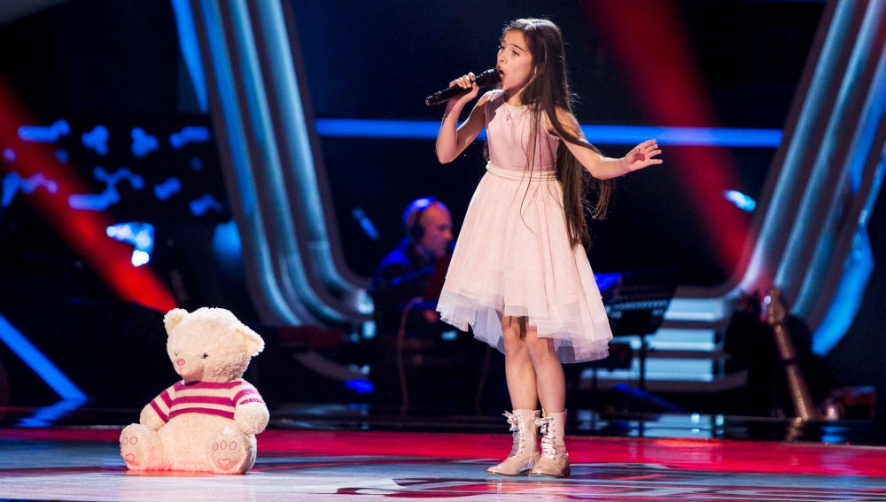 Melani, ganadora de 'La Voz Kids', canta Nessun Dorma en las Audiciones a ciegas