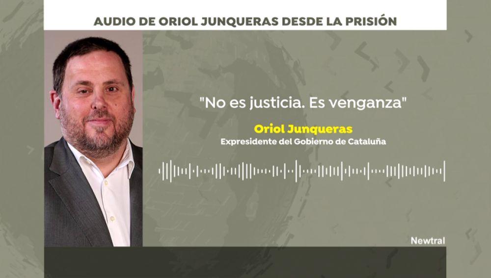 REEMPLAZO Primeras reacciones de Oriol Junqueras a la sentencia del Procés desde la cárcel