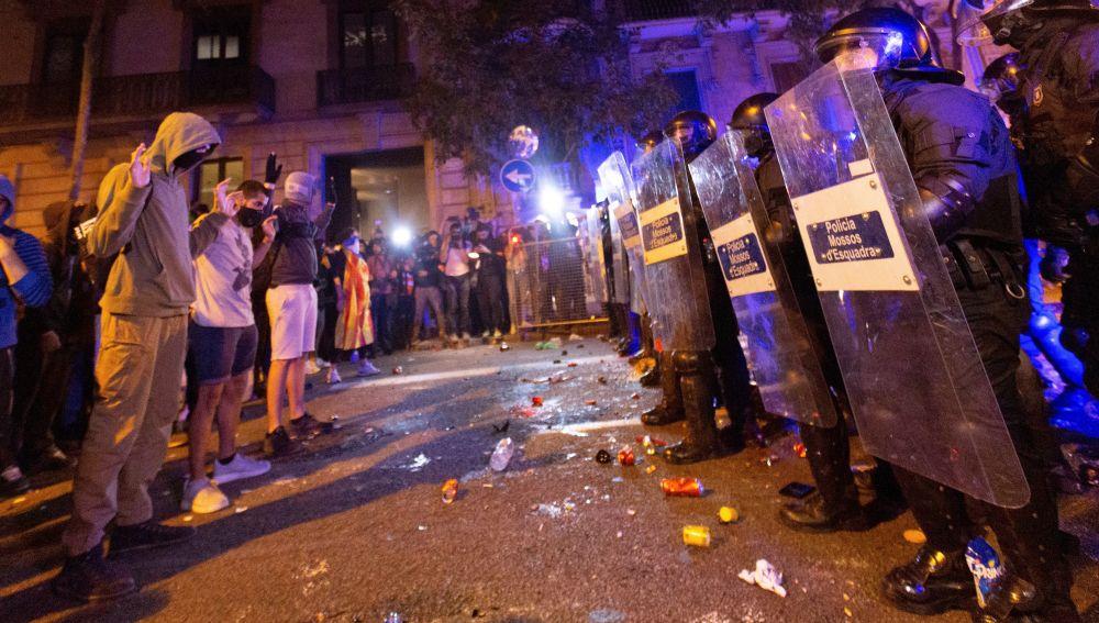 Al menos tres detenidos en la manifestación en Barcelona