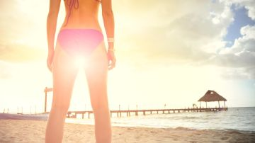 Mujer con bikini