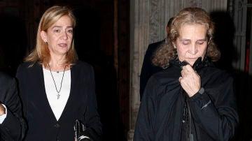 Las infantas Elena y Cristina, juntas de funeral