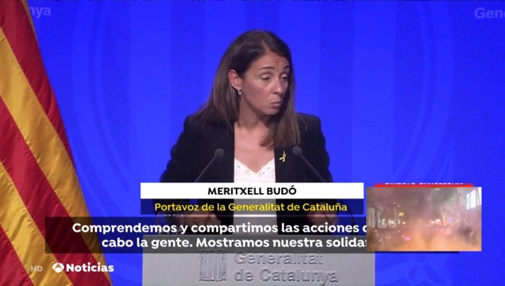 """Budó justifica las cargas """"puntuales"""" de los Mossos para """"proteger"""" a los manifestantes"""