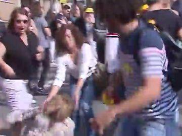 Detenido el agresor de una señora que exhibió una bandera española en Tarragona
