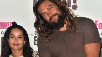 Zoë Kravitz y su padrastro Jason Momoa