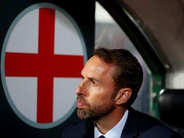 Southgate durante el Inglaterra-Bulgaria