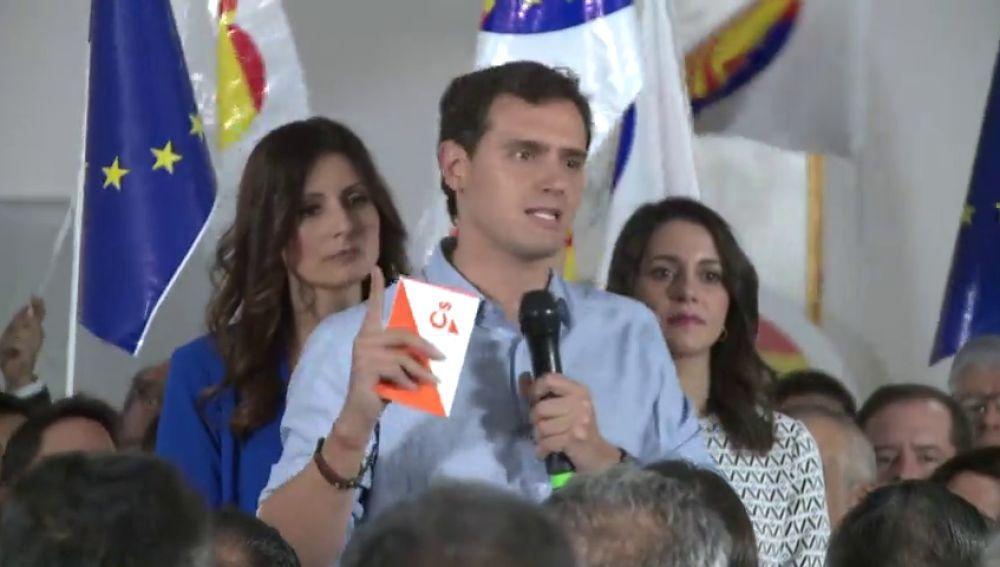 Rivera reclama el 155 y convoca una manifestación en Barcelona