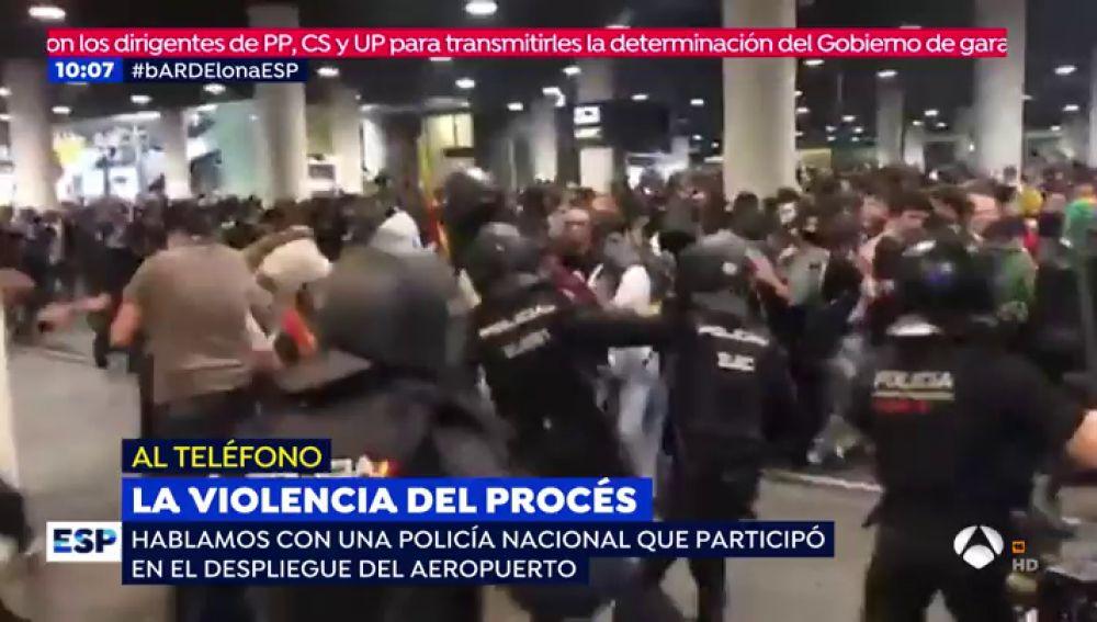 """Una agente que estuvo en los disturbios del Prat: """"En Cataluña ya no puedes decir que eres policía"""""""
