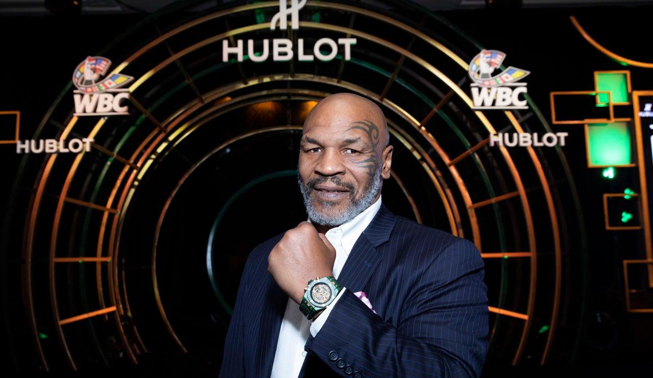 El exboxeador Milke Tyson, en un acto en Las Vegas