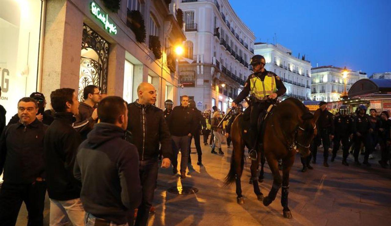 Concentración en Madrid en protesta contra la sentencia del procés