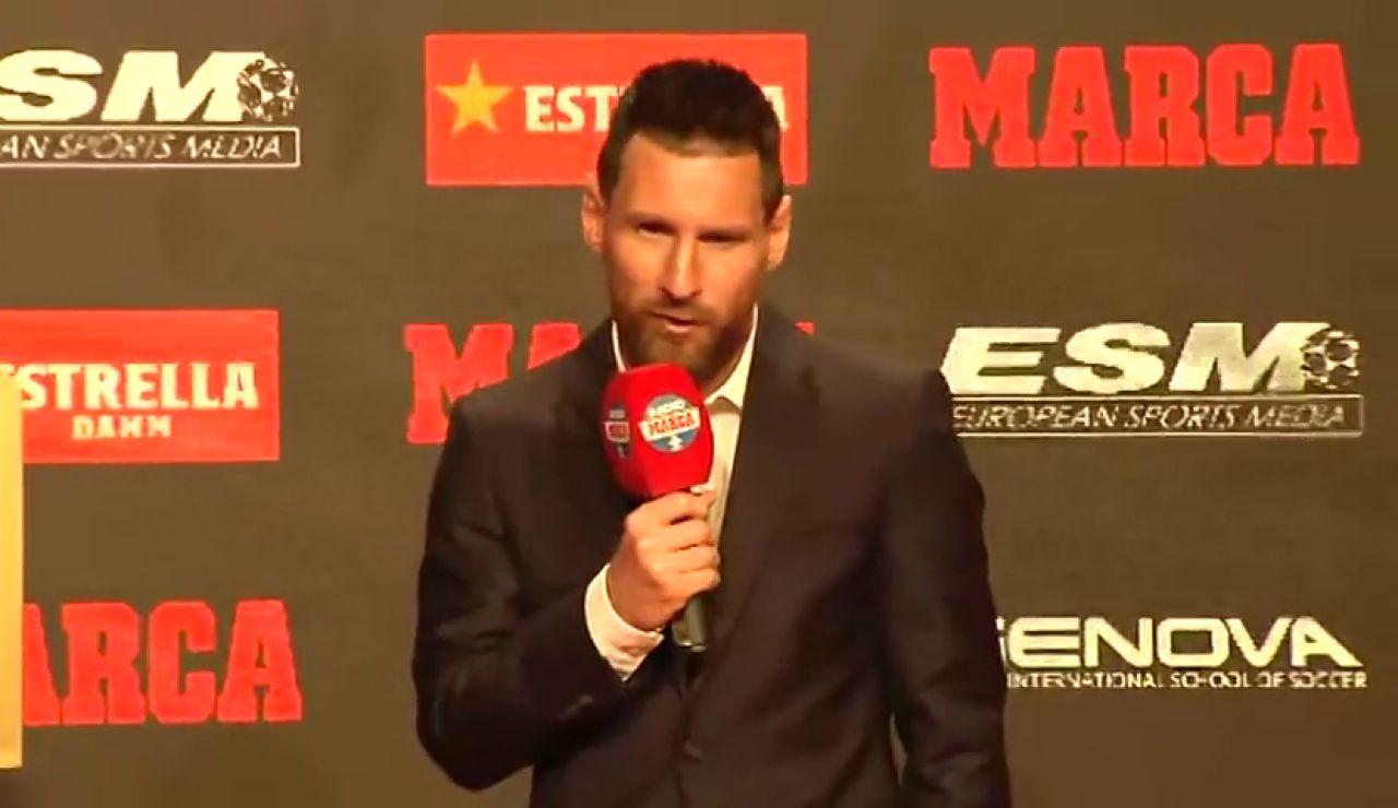 """Leo Messi recibe su sexta Bota de Oro: """"Sin mis compañeros nunca habría conseguido ni siquiera una"""""""