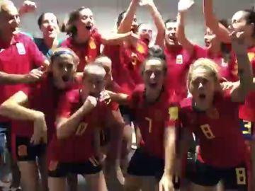 La fiesta de la Selección española de fútbol playa femenina tras meterse en la final de los Juegos Mundiales de la Arena