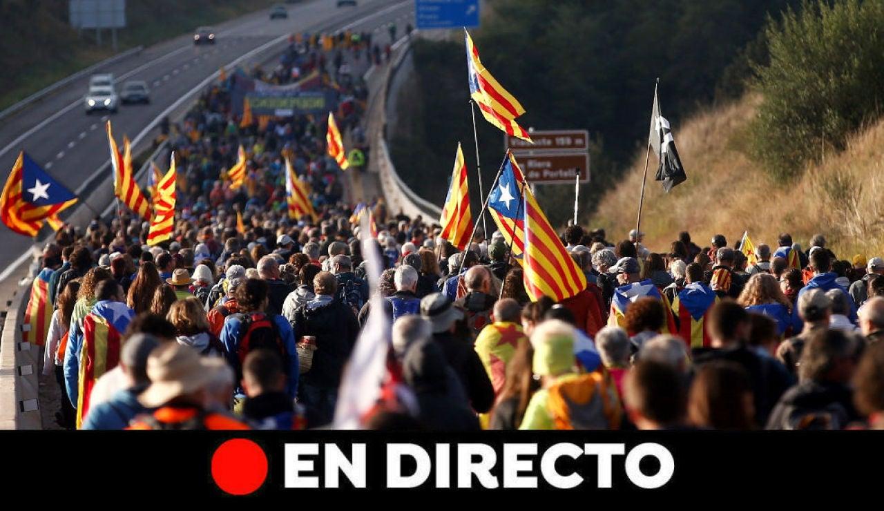 Sentencia procés: Última hora de Cataluña, las 'Marchas por la libertad' y los disturbios en Barcelona, en directo