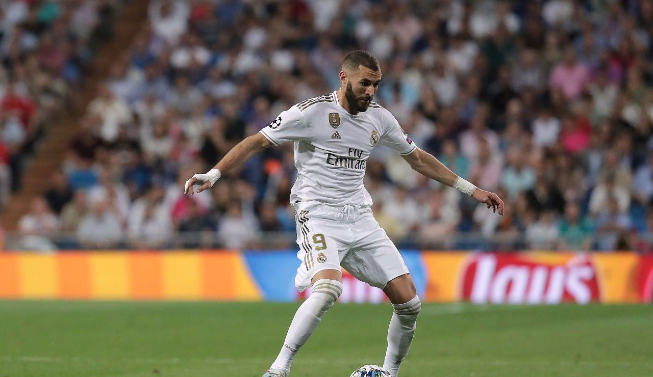 Karim Benzema durante un partido