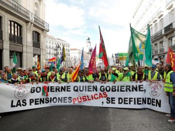 Los pensionistas protestan en Madrid