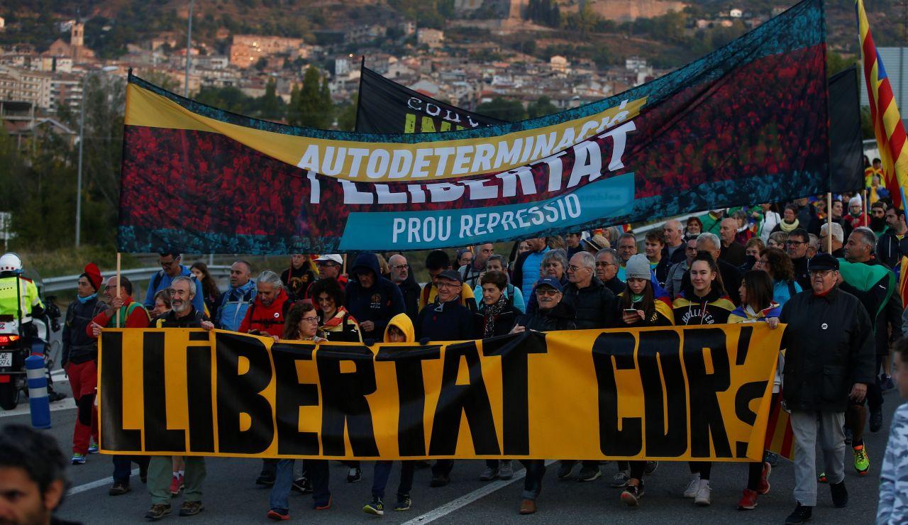 """Simpatizantes independentistas inician este miércoles desde Berga una de las """"Marchas por la libertad"""""""