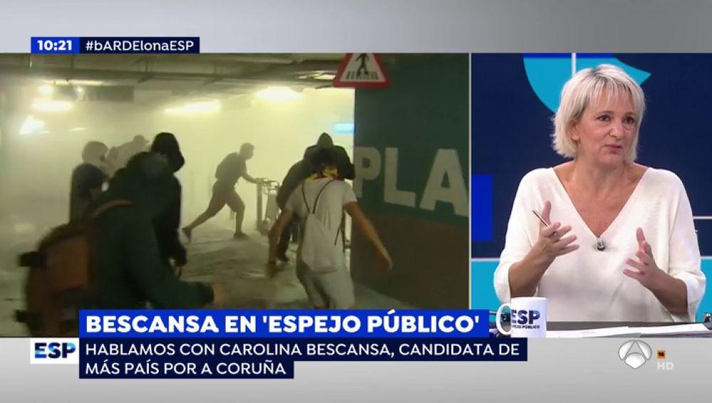 """Carolina Bescansa: """"En Cataluña estamos recogiendo las consecuencias del fracaso de la política"""""""