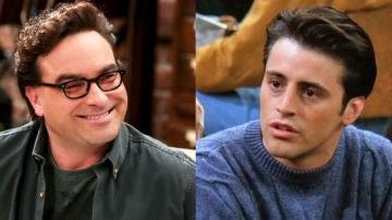 Johnny Galecki (Leonard en 'The Big Bang Theory') y Matt LeBlanc (Joey en 'Friends')