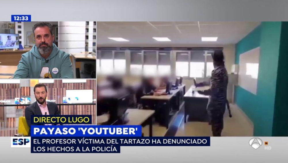 """El 'youtuber' que dio un tartazo a un profesor: """"No sabía que era un delito"""""""