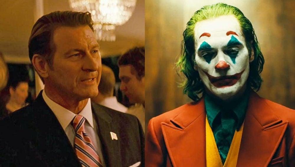 Brett Cullen, Thomas Wayne, y Joaquin Phoenix en 'Joker'