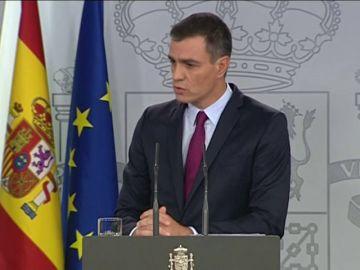"""Sánchez apela a la """"firmeza y proporcionalidad"""" para garantizar el """"orden constitucional"""" en Cataluña"""