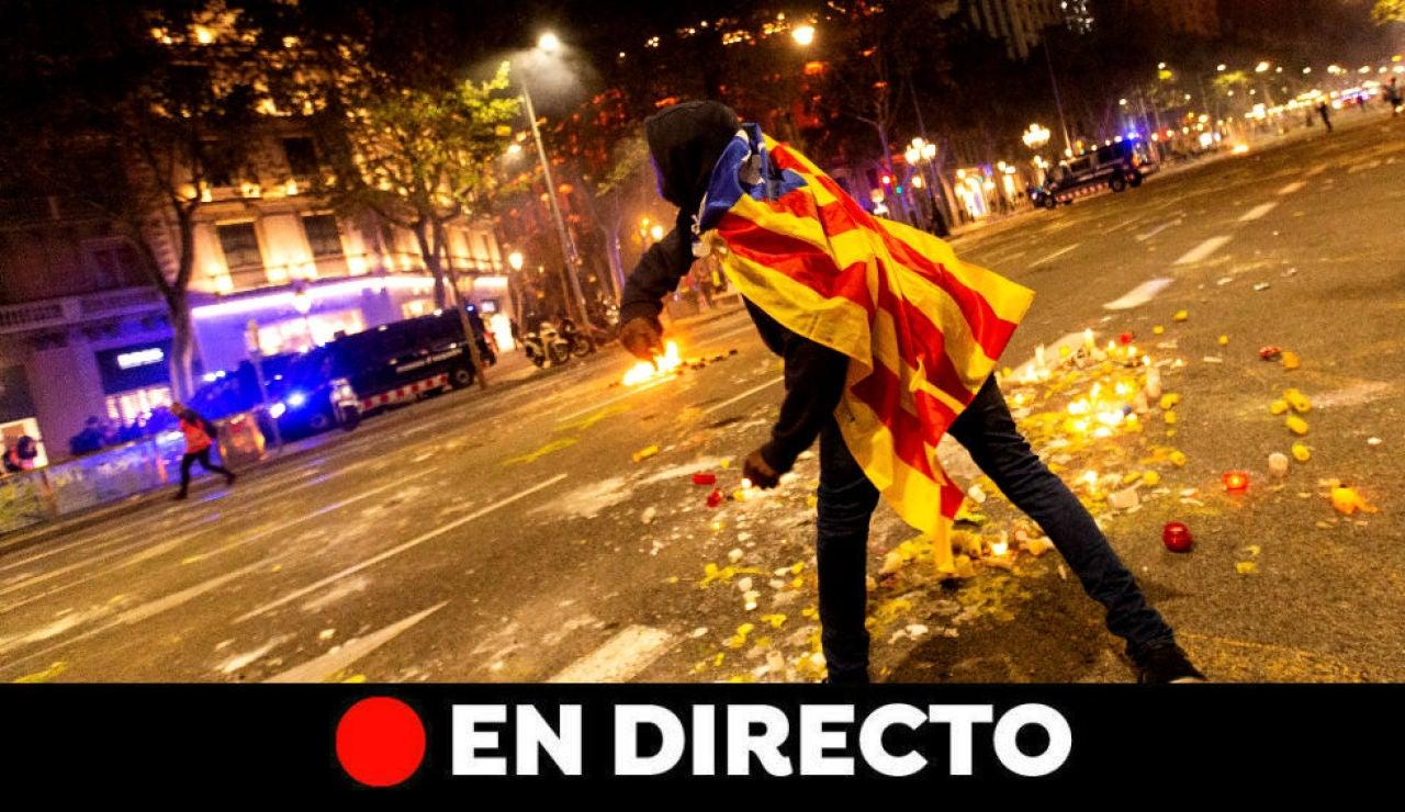 Cataluña: Protestas y cargas policiales tras las sentencia del procés, última hora en directo