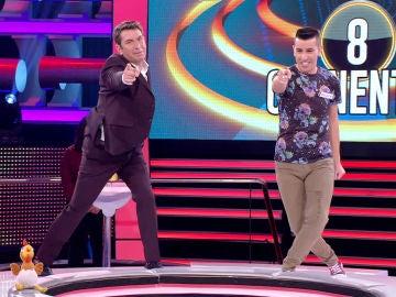 El reto de un concursante de bailar una coreografía en '¡Ahora caigo!'