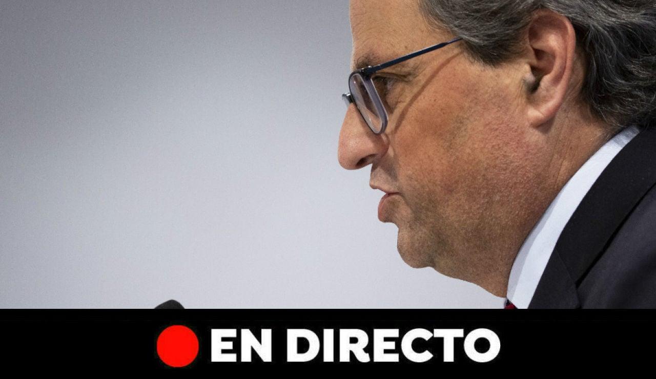 Última hora Cataluña: Comparecencia de Quim Torra, en directo