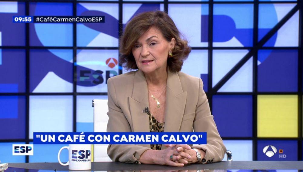 Vicepresidenta del Gobierno, Carmen Calvo.